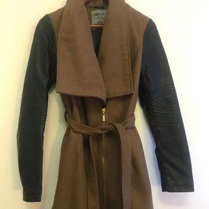 UK2LA brown/black long trench coat